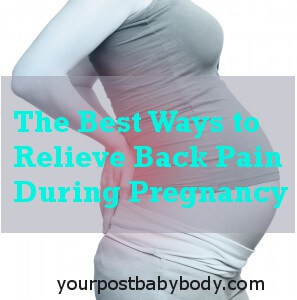 relieve back pain during pregnancy