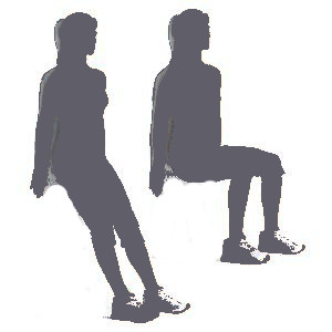 Pelvic Floor Exercise - Wall Sit