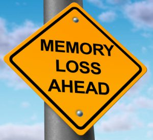 what causes short term memory loss after a baby